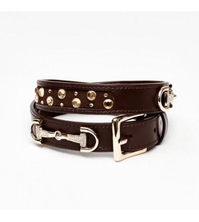Cinturón Crystal con Destellos (Marrón y Oro)