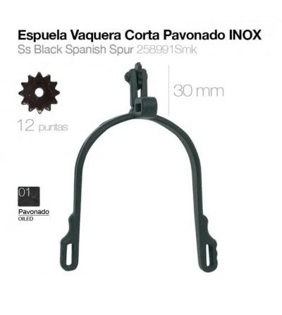Espuela Vaquera Gallo Corto Pavonada/Inoxidable 258991Smk