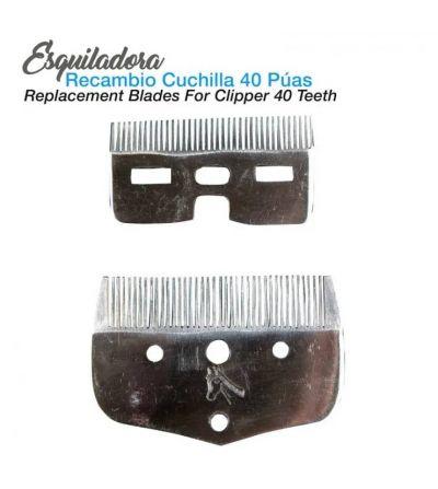 ESQUILADORA RECAMBIO CUCHILLA 40 PÚAS