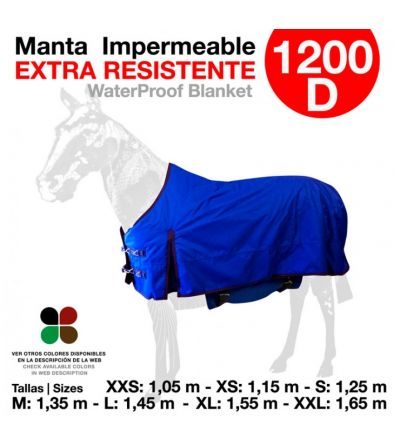Manta Impermeable Resistente 1200D Azul
