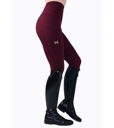 Pantalón de Montar Leggins de Mujer Maximilian Sculpt Vino