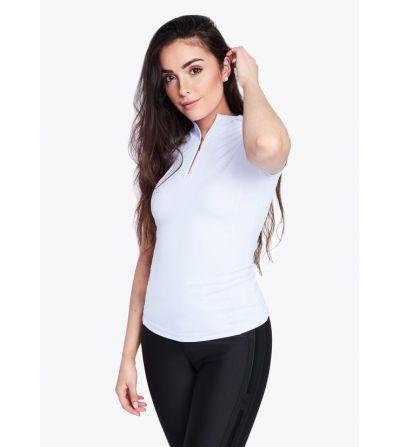 Camiseta manga corta Base Layer Blanco/Dorado