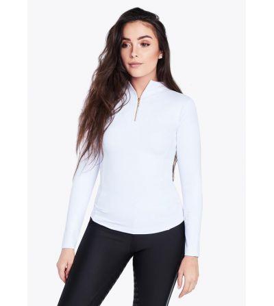 Camiseta manga larga Base Layer Blanco/Dorado