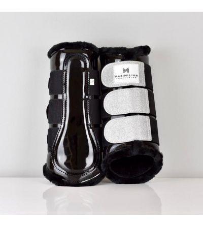 Protectores para caballos Maximilian Gloss&Glitter Negro