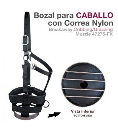 Bozal para Caballo con Correa Nylon 47245-Fk