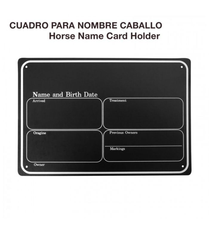 CUADRO PARA NOMBRE CABALLO VA00700