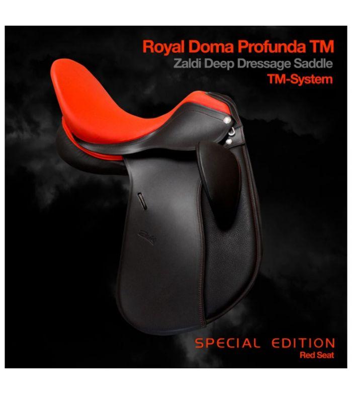 "SILLA ZALDI DOMA ROYAL PROFUNDA TM 17.5"" SPECIAL EDITION RED SEAT"