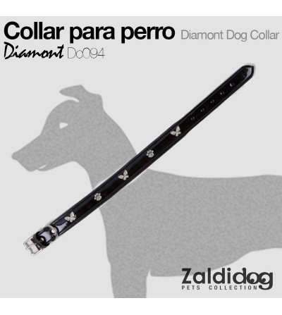Perro Collar Diamont Dc094 Negro