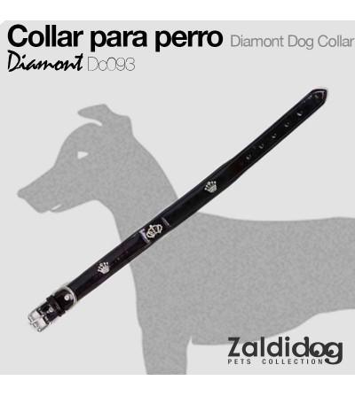 Perro Collar Diamont Dc093 Negro