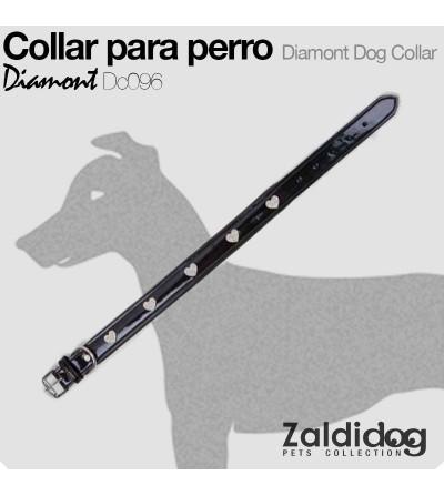 Perro Collar Diamont Dc096 Negro