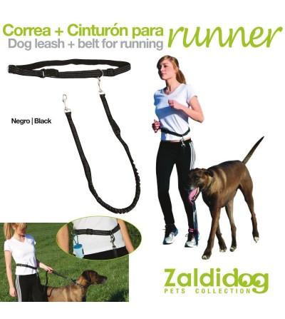 Perro Correa + Cinturón para Correr