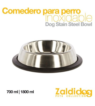 Perro Comedero-Bebedero Inoxidable