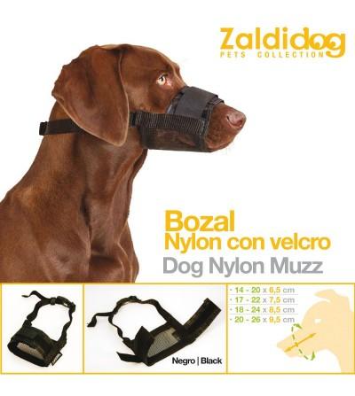 Perro Bozal Nylon con Velcro