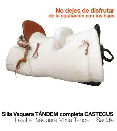 Silla Vaquera Tandem Castecus Completa Negra