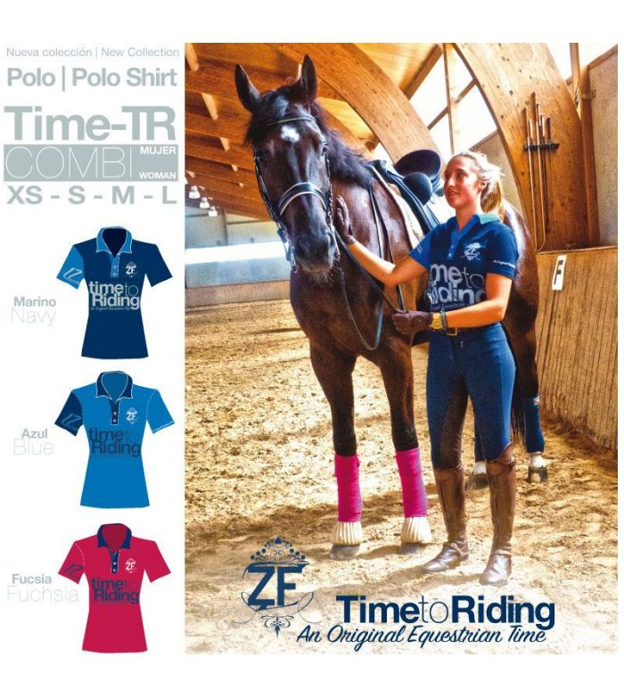 Polo Time-Tr Combi Mujer