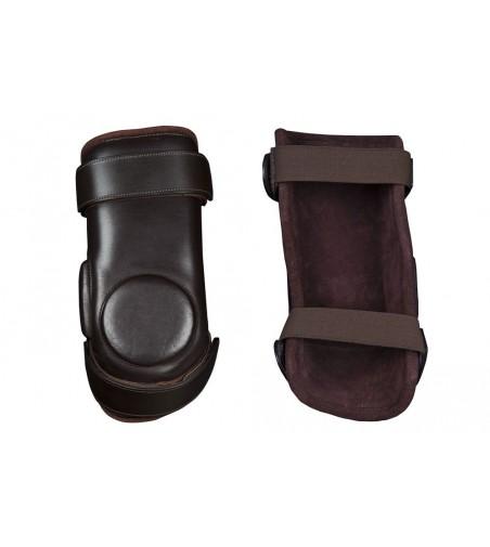 Protector Rodilla Jinete Cuero con Velcro