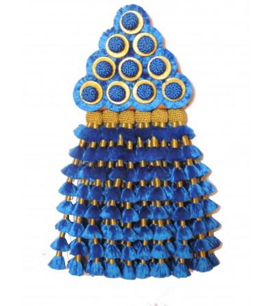 Mosquero de Seda Azul/Oro Premiun