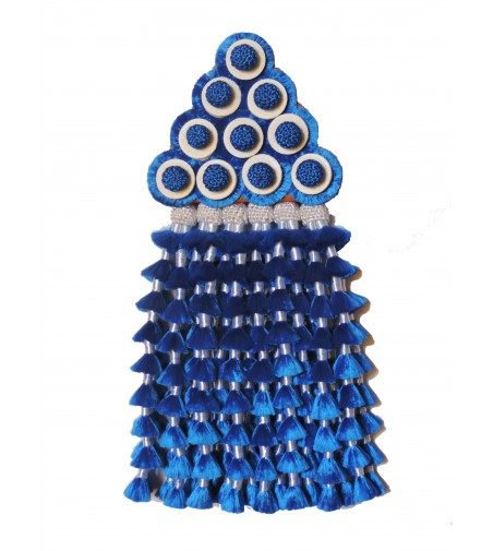 Mosquero de Seda Azul/Blanco Premiun