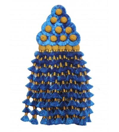 Mosquero de Seda Azul/Oro Tradicional