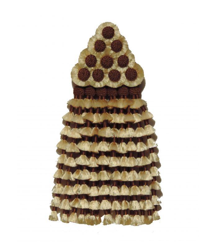 Mosquero de Seda Vainilla/Marrón Tradicional