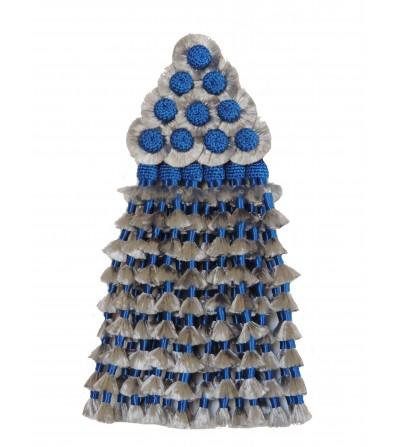 Mosquero de Seda Plata/Azul Tradicional