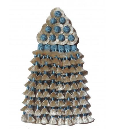 Mosquero de Seda Beige/Celestel Tradicional