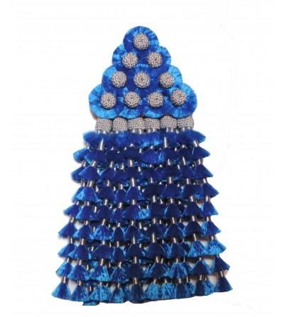 Mosquero de Seda Azul/Plata Tradicional