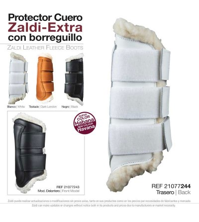 Protector Zaldi Extra Cuero y Borreguillo Pie