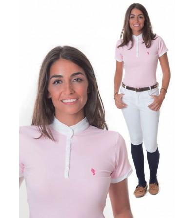 Polo de Competición M/C Mujer Rosa
