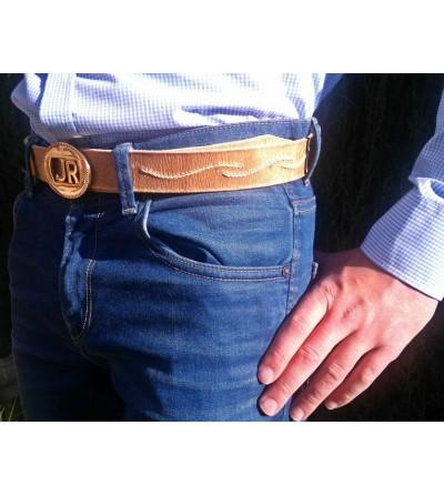 Cinturón de Cuero Artesanal con Iniciales