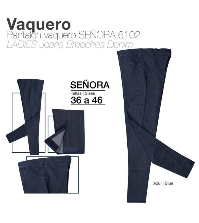 Pantalón Vaquero Azul de Señora