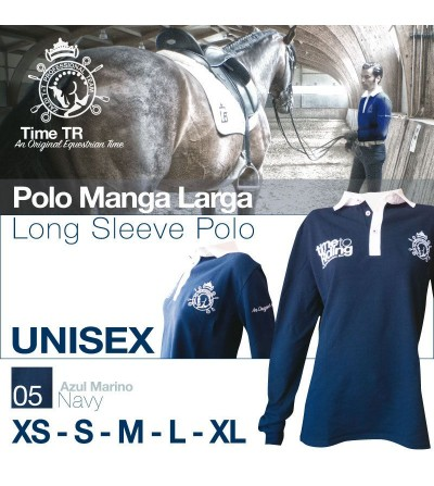 Polo Time To Rinding Manga Larga Unisex Marino