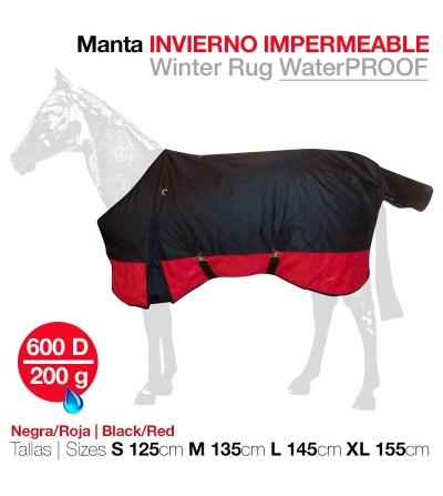 Manta Invierno Impermeable 600D Roja