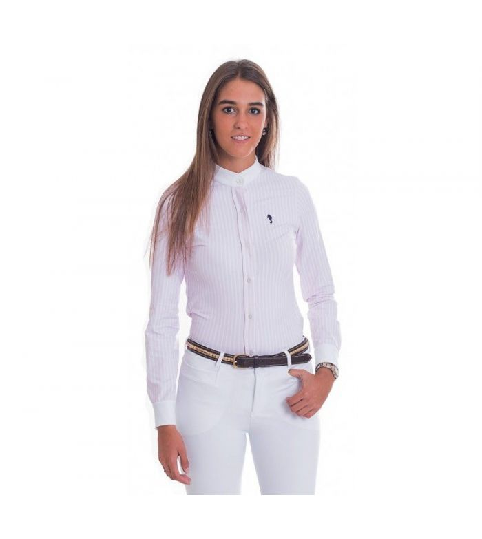 Camisa Competición Mujer Lycra Raya Rosa