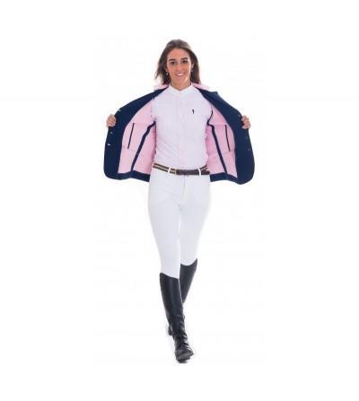 Chaqueta Concurso Mujer Azul Interior Rosa