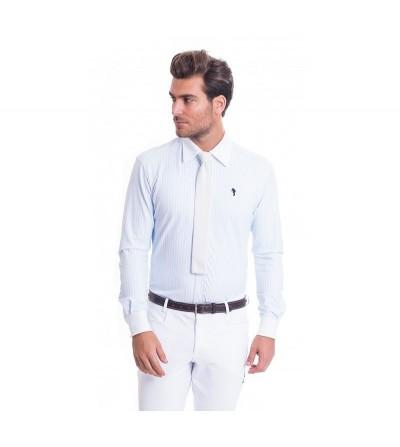 Camisa de Competición Hombre Lycra Raya Azul