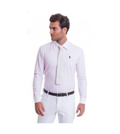Camisa de Competición Hombre Lycra Raya Rosa