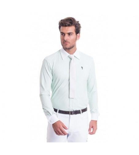 Camisa de Competición Hombre Lycra Raya Verde