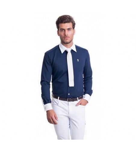 Camisa de Competición Hombre Lycra Azul