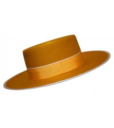 Sombrero Cordobés Cañero Lana 180 grs Mostaza