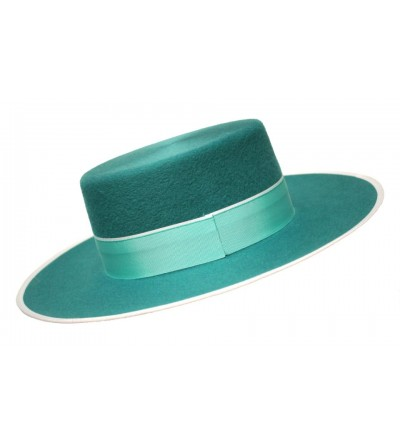 Sombrero Cordobés Cañero Lana 180 grs Verde Petroleo