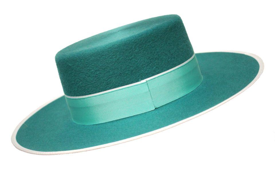 Sombrero Cordobés Cañero Lana 180 grs Verde Petroleo 2289fbf3664