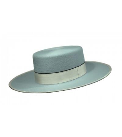Sombrero Cordobés Cañero Lana 180 grs Celeste
