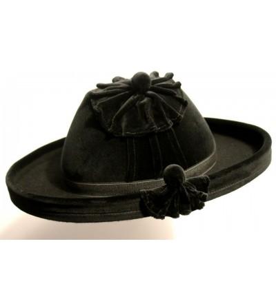 Sombrero Catite de Terciopelo Negro Oliver