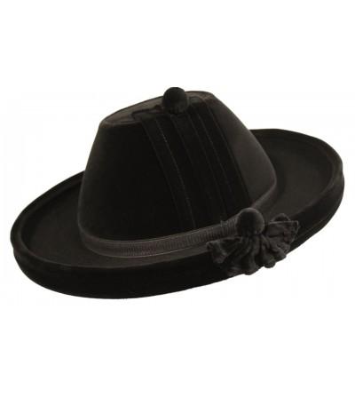 Sombrero Catite de Terciopelo Negro Antiguo