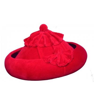 Sombrero Calañes Terciopelo Rojo