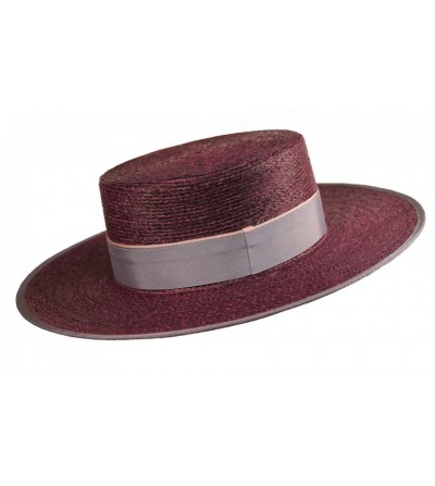 Sombrero Cordobés Cañero Palma Burdeos