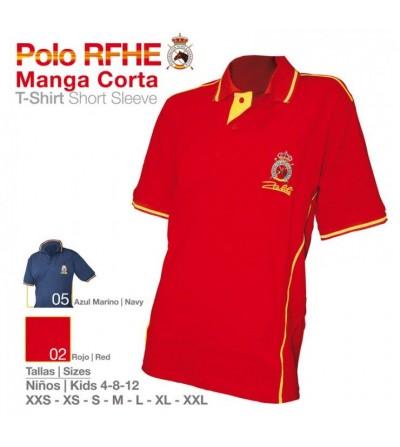 Camisa Polo RFHE Manga Corta Niño
