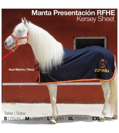 C. Olimpica: Manta Presentacion RFHE Azul