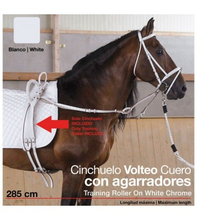 Cinchuelo Volteo Cuero con Agarradores 0693 Blanco